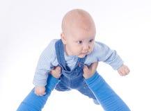 Bebê nas mãos Fotografia de Stock