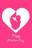 Bebê nas mãos da mãe - sira de mãe ao dia do ` s Imagens de Stock Royalty Free