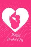 Bebê nas mãos da mãe - sira de mãe ao dia do ` s Fotos de Stock Royalty Free