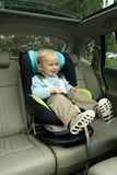 Bebê no assento de carro Imagens de Stock