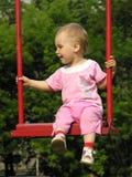 Bebê no balanço imagem de stock royalty free
