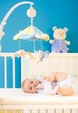 Bebê no berçário Fotos de Stock Royalty Free