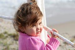 Bebê no cais Imagens de Stock Royalty Free