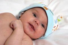 Bebê no chapéu com orelhas Fotos de Stock
