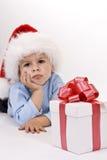 Bebê no chapéu de Santa imagens de stock