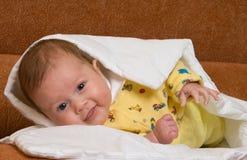 Bebê no cobertor Fotografia de Stock