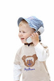 Bebê no fundo branco fotografia de stock royalty free