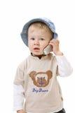 Bebê no fundo branco imagens de stock royalty free