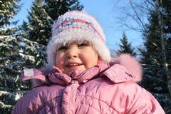Bebê no inverno fotos de stock
