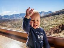 Bebê no parque nacional de Teide Fotos de Stock