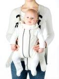 Bebê no portador de bebê foto de stock royalty free