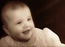 Bebê no sepia Fotos de Stock Royalty Free
