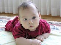 Bebê no tapete Foto de Stock