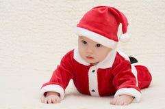 Bebê no terno de Santa Imagens de Stock Royalty Free