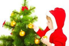 Bebê no traje de Santa fotos de stock