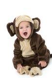 Bebê no traje do macaco Imagens de Stock