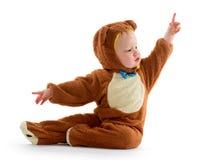 Bebê no traje do urso Foto de Stock Royalty Free