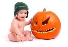 Bebê no vermelho Imagens de Stock