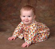 Bebê no vestido do ponto de polca Fotografia de Stock