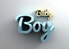 Bebê - o ouro e a qualidade 3D azul rendem na sagacidade do fundo Fotos de Stock