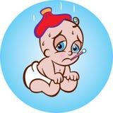 Bebê paciente Fotografia de Stock