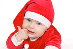 Bebê Papai Noel Imagens de Stock