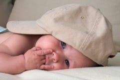 Bebê pensativo Fotografia de Stock Royalty Free