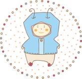 bebê pequeno ilustração stock