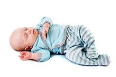 Bebê pequeno adormecido Imagens de Stock Royalty Free