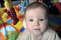 Bebê pequeno com olhos azuis grandes Imagens de Stock Royalty Free