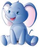 Bebê pequeno do elefante, animais selvagens, mamíferos ilustração royalty free