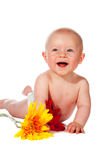 Bebê pequeno feliz fotos de stock royalty free