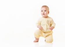 Bebê pequeno isolado em um branco Fotos de Stock