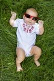 Bebê pequeno no vestido ucraniano Fotos de Stock Royalty Free