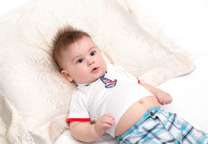 Bebê pequeno surpreendido Imagens de Stock Royalty Free