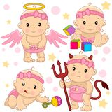 Bebê 10 porções ilustração royalty free