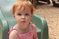 Bebê principal vermelho bonito Imagens de Stock Royalty Free