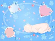 Bebê-quadro Foto de Stock