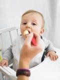 Bebê que é Fed Fotografia de Stock