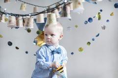 bebê que comemora seu aniversário Foto de Stock