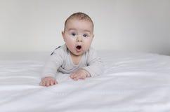 Bebê que encontra-se na barriga imagens de stock royalty free