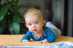 Bebê que encontra-se na barriga Imagens de Stock
