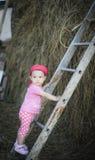 Bebê que escala acima a escada Fotos de Stock Royalty Free