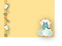 Bebê que espera seu alimento ilustração stock