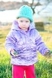 Bebê que explora ao ar livre. Imagem de Stock Royalty Free