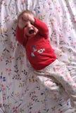 Bebê que faz o whoopee Fotografia de Stock