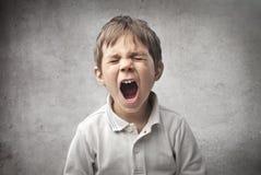 Bebê que grita Foto de Stock Royalty Free