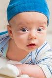 Bebê que joga com coelho Imagem de Stock Royalty Free