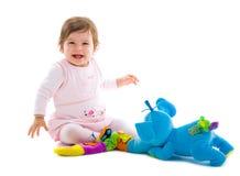 Bebê que joga o entalhe Fotografia de Stock Royalty Free