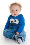 Bebê que senta-se no assoalho foto de stock royalty free